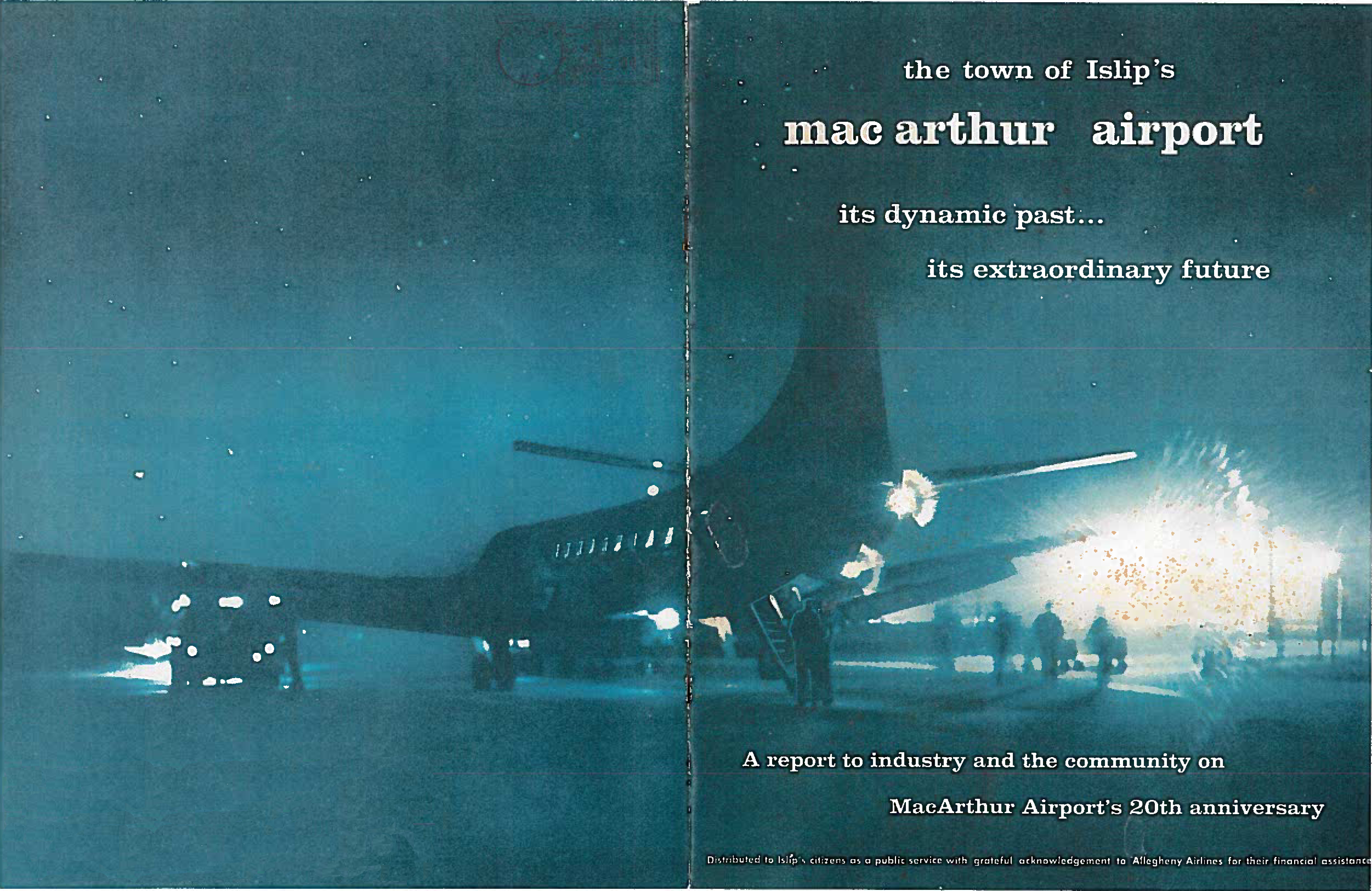 This image leads to a PDF of a booklet describing MacArthur Airport's 20th anniversary